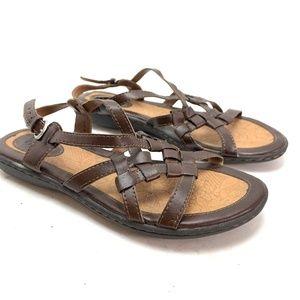 BOC BORN CONCEPT Brown Ankle Strap Sandals Shoes 8